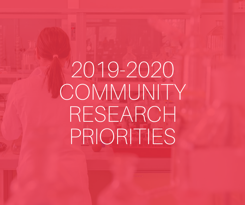 2019-2020 community research priorities