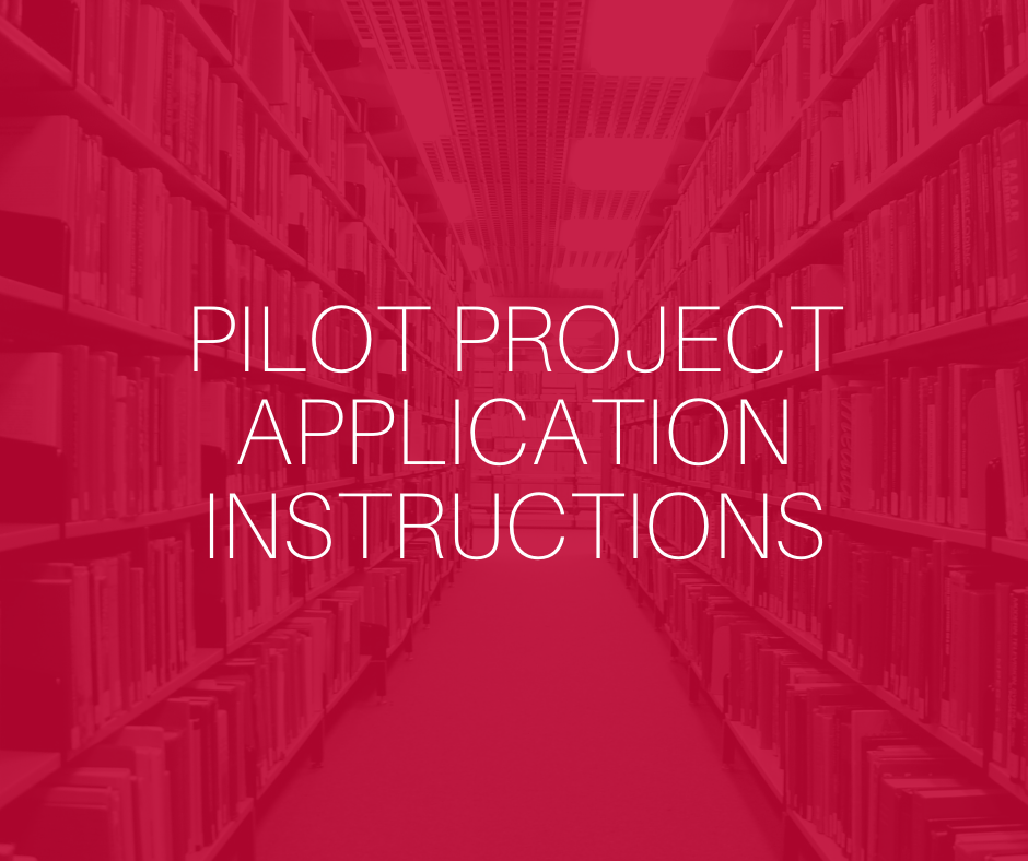 pilot project application instructions