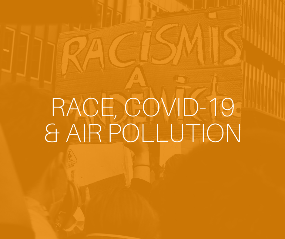 Race, COVID-19 and air pollution infographic