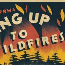 Waking Up to Wildfires poster art