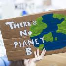 No Planet B protest sign